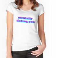 'Mentally Dating You' Contrast Tank by phantastique
