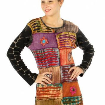 PATCHWORK BOHO DRESS Top Hippy Gypsy