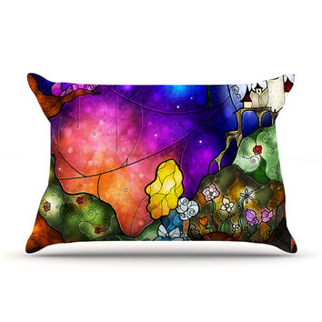 "Mandie Manzano ""Fairy Tale Alice in Wonderland"" Pillow Case"