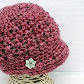 Crochet Girl Newsboy Hat, Toddler Girl Hats, Girl Sporty Hat