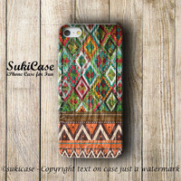 IPHONE 5S CASE AZTEC Wooden Geometric Tribal Native Wood Navajo Wood Fabric Pattern iPhone 5 Case iPhone 4 Case iPhone 5c  4s Cover