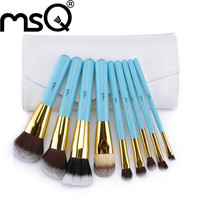 MSQ High Quality Professional 9pcs Makeup Brush Set Kit & Tools Soft Synthetic Hair Make Up Brushes Set With High Quality Bag