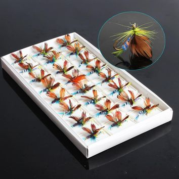 Sougayilang 48pcs Dry Butterfly Fly Lures/Hooks Fishing Trout Salmon Flies Fly Tackle Lures Set Pack Fly Fishing Lure with Hooks