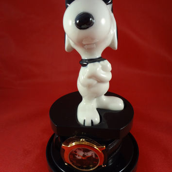 Snoopy Joe Cool Armitron Watch with Figurine