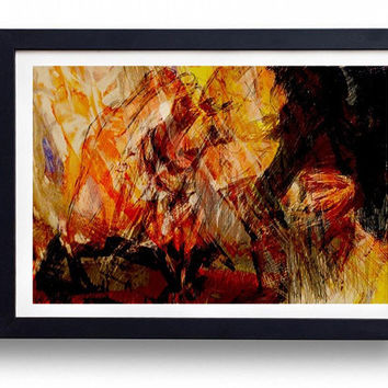 Modern Abstract Framed Art Print Digital Drawing Wall Art 15X20 CM Frame, Quality Digital art print, , semi matte photo paper, poster art