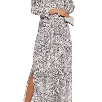 Printed silk maxi dress | L'AGENCE | Sale up to 70% off | THE OUTNET