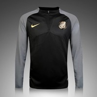 KUYOU PSG 2016/17 Black Long Sleeve(with gray sleeve) Training Top