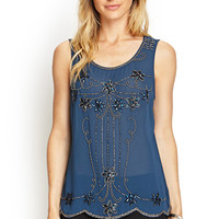 Swingy Beaded Chiffon Top