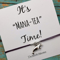 Manatee Charm Bracelet | Manatee Friendship Bracelet | It' Mana-Tea Time | Manatee | Gift for Friend | Manatee Jewelry