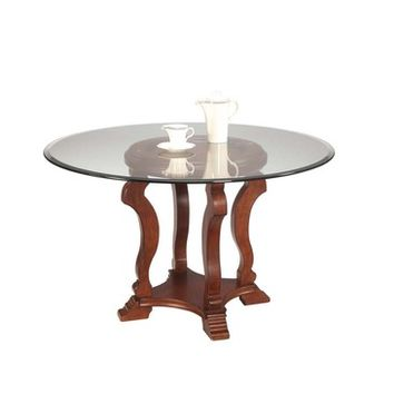 Bassett Mirror Remson Round Glass Dining Table