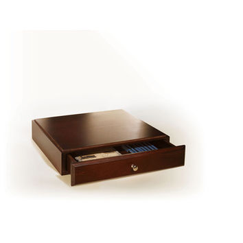 Empire Office Solutions Stack & Style Desk Organizers Supply Drawer in Mahogany Wood