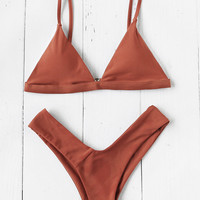 Triangle Beach Bikini SetFor Women-romwe