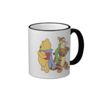 Pooh and Tigger wear scarves Ringer Coffee Mug