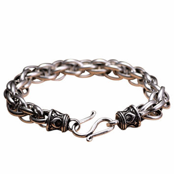 Multus Cable Link Silver Chain Luxury Bracelet