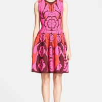 Women's Alexander McQueen Intarsia Knit Fit & Flare Dress,