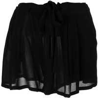ANN DEMEULEMEESTER short pleated tie skirt