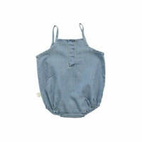 TinyCottons Washed Jean Summer Tank Bodysuit