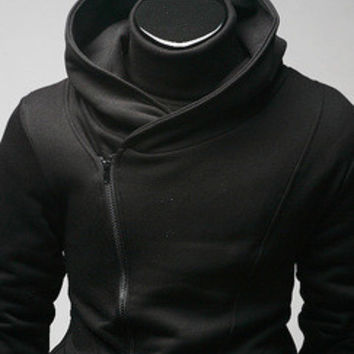 3 color Plus size M-XXXL sweatshirts coat for men spring autumn mens hoodie cable stayed plus size  outerwear hooded