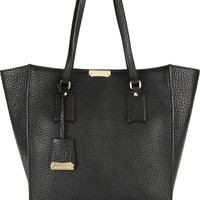 Burberry Shoes & Accessories - Textured-leather trapeze tote