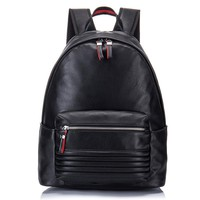 Europe and American Fashion Brand Genuine Leather Men's Travel Backpacks Large Capacity Schoolbags Bolsa Mochila Laptop Backpack