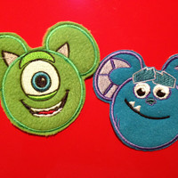 Disney Pixar Monsters Inc Sully OR Mike Wazowski Applique Patch