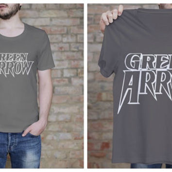 Green Arrow Shirt - Arrow Fan Tee - Comic Book T Shirt - ScreenPrint - Graphic Tee - Geekery - Printed T Shirt - Fandom Shirt