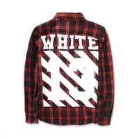 cc spbest Off White Red Flannel