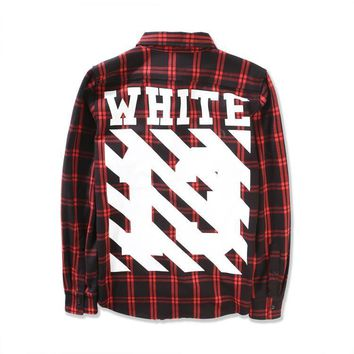 cc auguau Off White Red Flannel