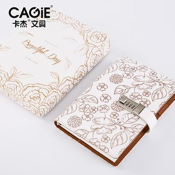Cagie 2017 Direct Selling New Vintage With Lock Notebooks Office School Planner Filofax Agenda Supplies Day Personal Journals