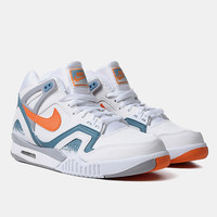 Nike Air Tech Challenge Ii Qs Shoes - White/clay Blue at Urban Industry