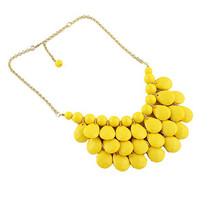 Yellow Waterdrop Pendant Necklace