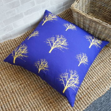 Modern Tree Print Giant Floor Cushion