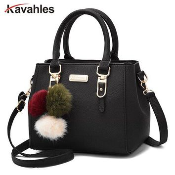 Brand women hairball ornaments totes solid sequined handbag hotsale party purse ladies messenger crossbody shoulder bags PP-1079