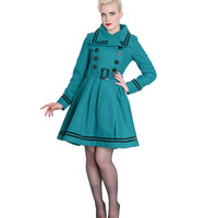 Teal Button Up Millie Coat