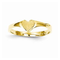 14k Yellow Gold Childrens Heart Childrens Ring