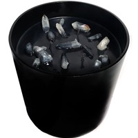 Crystal Candle XL Clear Quartz Black