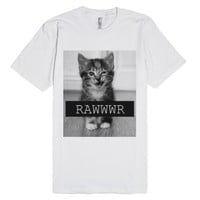 Rawr Cat-Unisex White T-Shirt