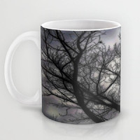 Haunted, black, grey, trees, nature, spooky - Ceramic Mug, 2 Sizes Available - Kitchen, Bathroom, New Home, Gift - Made To Order - H#07