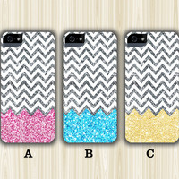 Glitter Chevron Design Casebattle iPhone 6/5S/5C/5/4S/4 3D-Wrap Case and Tough Case