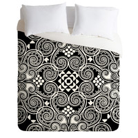 Budi Kwan Decographic Black Duvet Cover