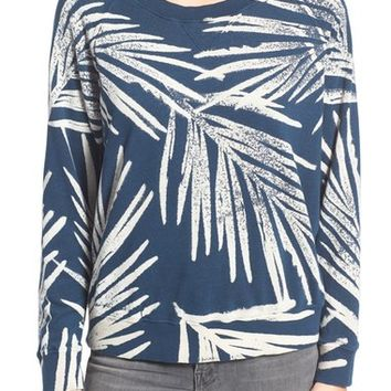 MOTHER 'The Square' Palm Print Pullover | Nordstrom