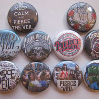 Pierce The Veil PTV Pinback Button Badge Pin (pack of 10)