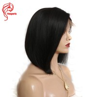 Hesperis Human Hair Short Bob Wigs For Black Women Brazilian Remy Hair Lace Front Human Hair Wigs Bleached Knots With Baby Hair