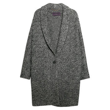 Buy Violeta by Mango Mohair Knitted Cocoon Coat, Medium Grey | John Lewis