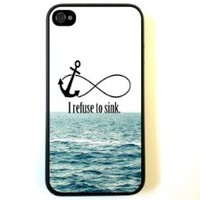 For iPhone 4 Case - Protective Case for iPhone 4/4s Case I Refuse To Sink Waves