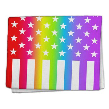 "American Pride - Rainbow Stars and Stripes 11""x18"" Dish Fingertip Towel All Over Print"