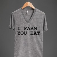 I FARM YOU EAT FARMER'S WIFE SHIRT - glamfoxx.com - Skreened T-shirts, Organic Shirts, Hoodies, Kids Tees, Baby One-Pieces and Tote Bags