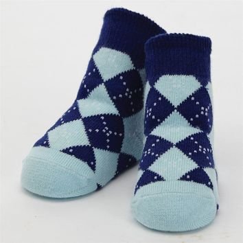 Mud Pie BLUE ARGYLE SOCKS