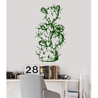 Vinyl Wall Decal Cactus Plant Flower Nature Mexico Stickers Unique Gift (923ig)
