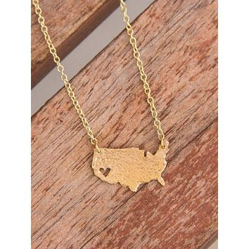 State Pride American Necklace